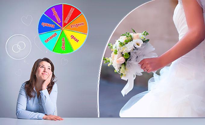 Как выбрать день недели для свадьбы