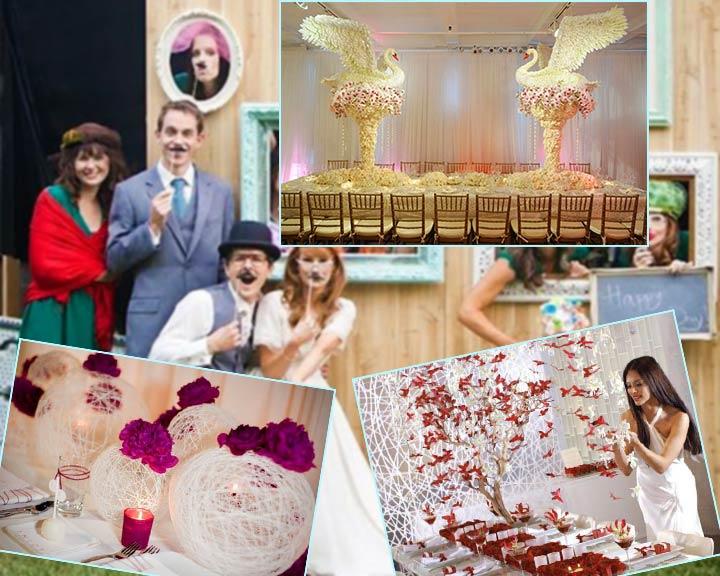 креативное оформление свадьбы