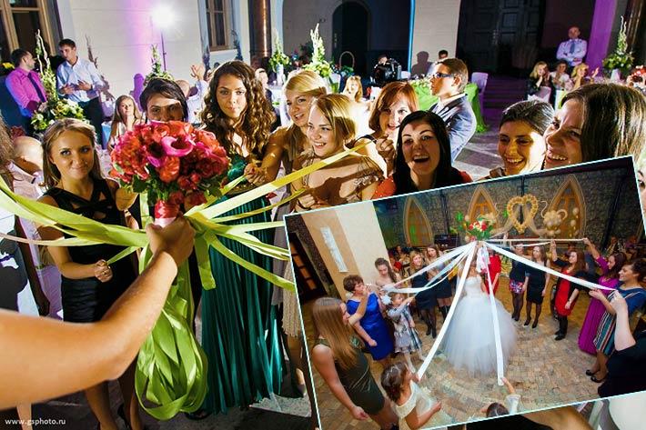креативный ритуал с букетом невесты