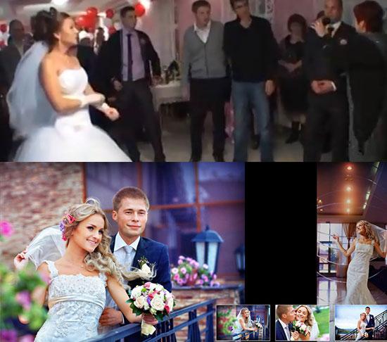 Общение невесты с гостями на свадьбе