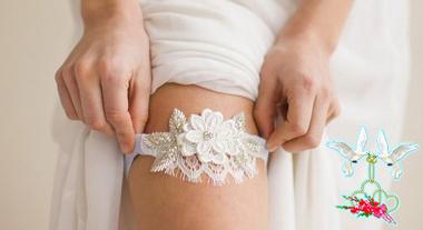 Подвязки на свадьбу что это, как сделать своими руками?