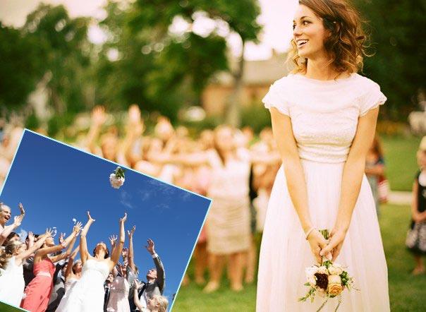 Ритуал бросание букета невесты