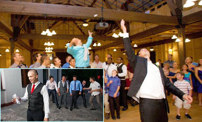 Ритуал бросания подвязки на свадьбе