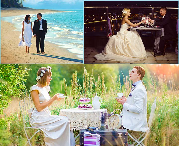 Романтическая свадьба вдвоем