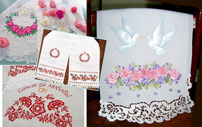 Рушники для венчания и ритуала обвязывания