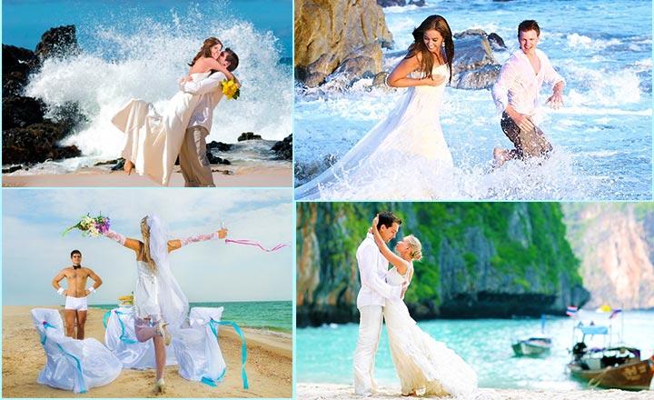 Свадебная фотосессия на море