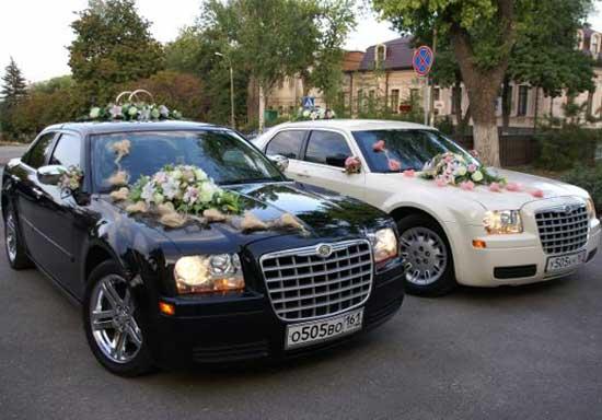 Свадебный автомобиль для молодожен