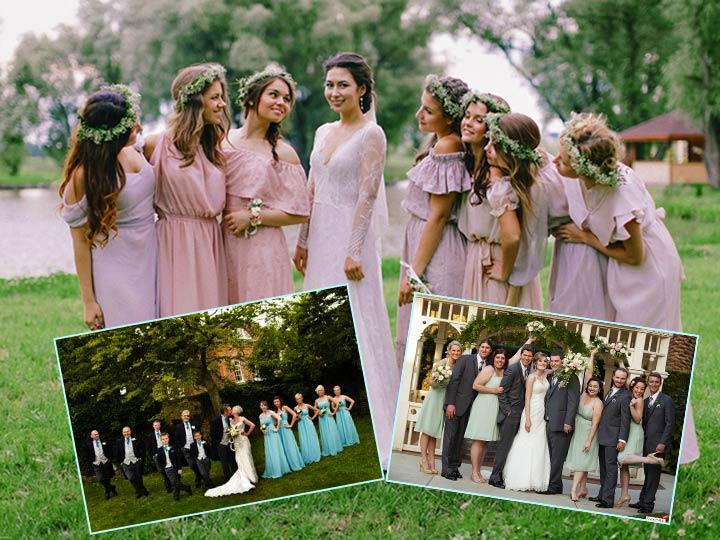 Стили в одежде на европейской свадьбе
