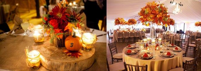 Осенние цветыы, личтья для декора зала