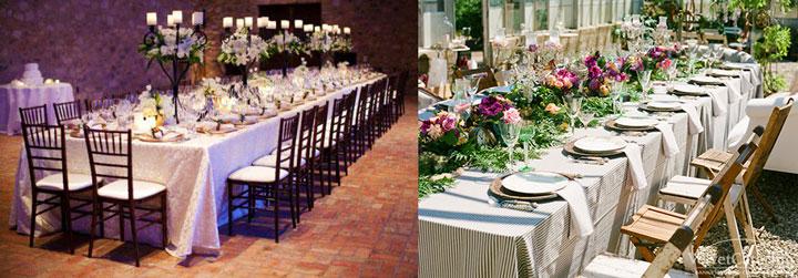 Украшенные столы для свадьбы