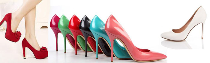 Туфли с высоким каблуком