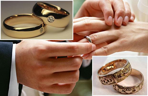 Выбор колец на свадьбу