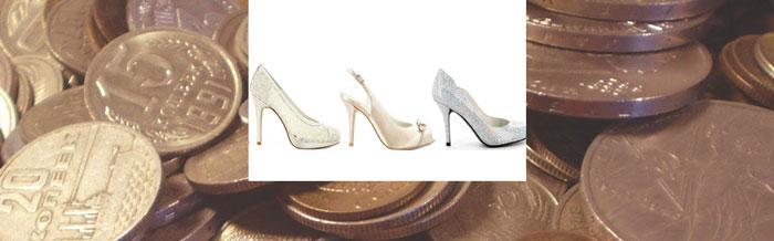 8ac06da5f Нужно заранее подготовить кругленькую монетку. свадебная обувь и монеты