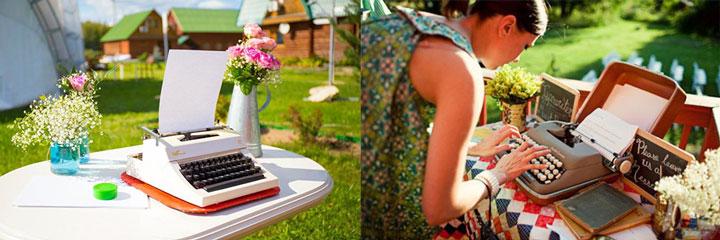 Свадебные пожаления на пишущей машинке
