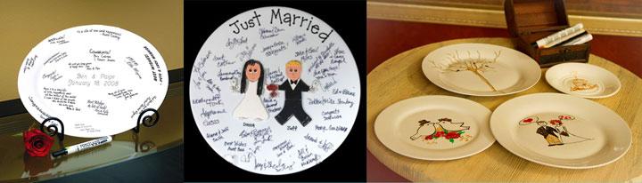 Тарелки для свадебных пожеланий