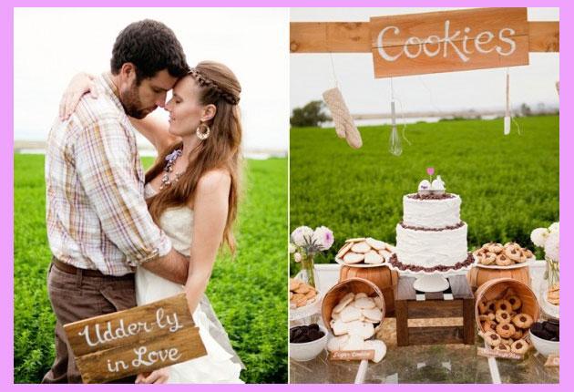 Свадебные сладости и торт в стиле вестерн