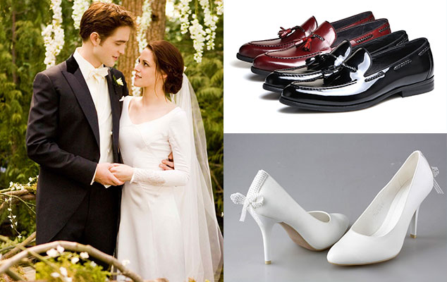 Молодожены и свадебная обувь