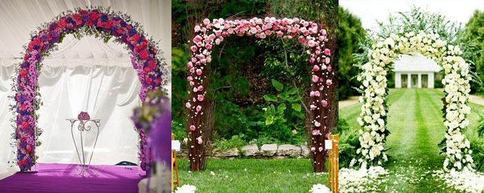 Арка на свадьбу из цветов