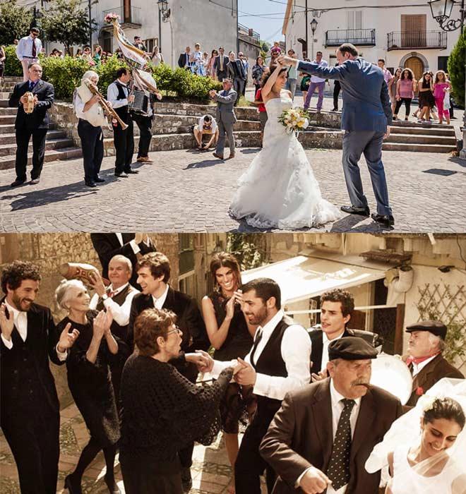 Празднование свадьбы в Италии
