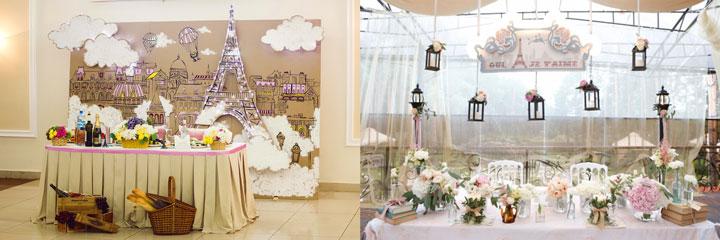 Оформление свадьбы в стиле Парижа
