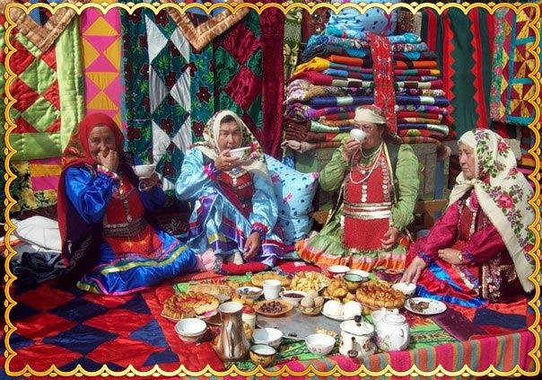 Ритуал чаепития у башкир