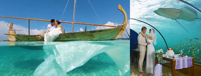 Варианты для свадеб на Мальдивах