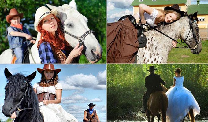 Свадебные прогулки на лошадях