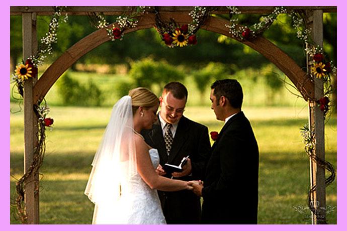 Свадебная арка и церемония
