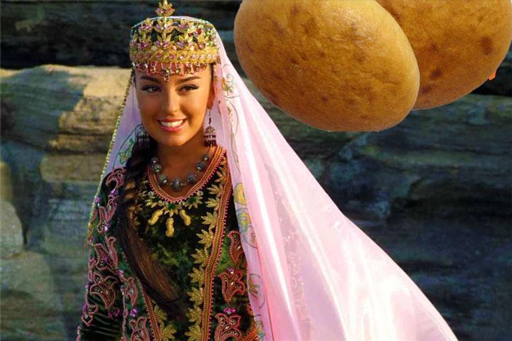 Азербайджанская невеста и хлеб