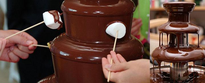 Варианты шоколадного фонтана