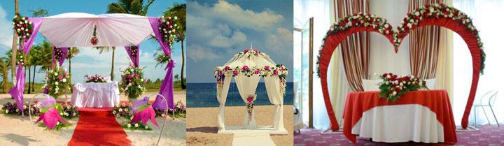 Разновидности форм арок на свадьбу