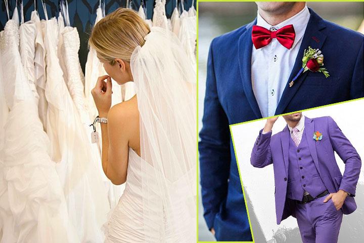 Невеста и платья, костюмы жениха