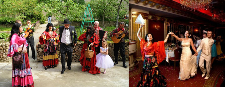 Сценки сватовства свадьбы у цыган