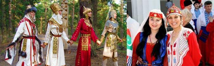 Дружки чувашских жениха и невесты