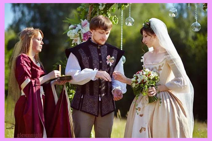 Молодожены в рыцарском стиле