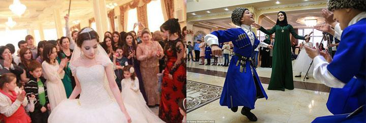 Сюжеты чеченской свадьбы