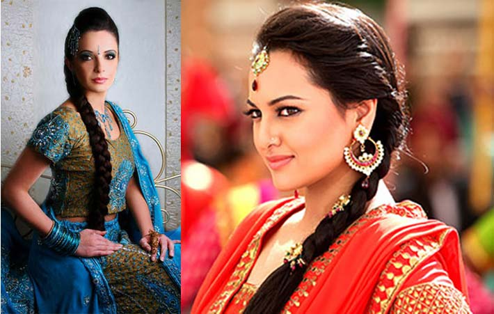Индийская прическа невесты