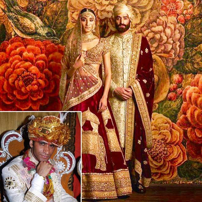 Индийские образы жениха и невесты