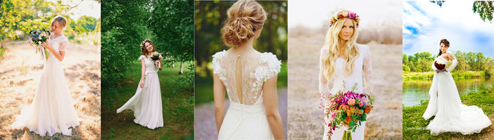 Летние наряды невесты