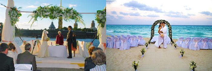 Свадьба на корабле или на пляже