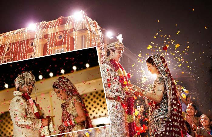 Обмен свадебными гирляндами