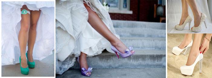Разновидности туфель невесты
