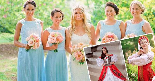 Обычаи цвета свадебного платья