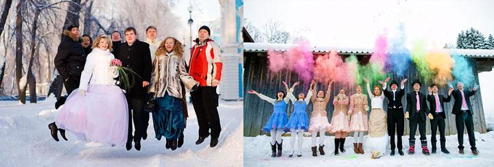 Зимняя свадьба и одежда гостей