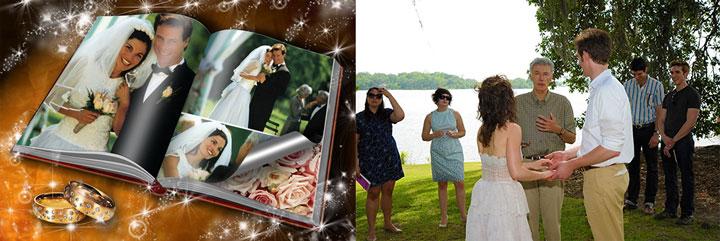 Свадебный фотоальбом и обсуждения с молодоженами