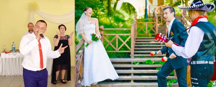 Жених поет песни невесте