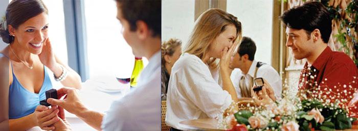 Сюжеты с подарком помолвного колечка