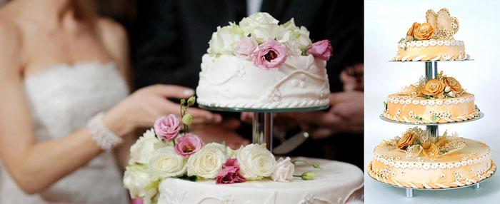 Свадебные торты и их нарезка