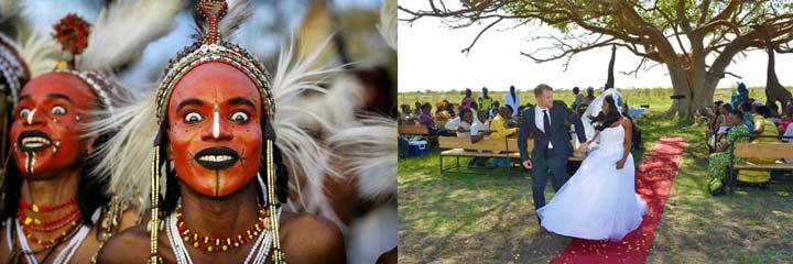 Свадьба в Африке и африканские образы