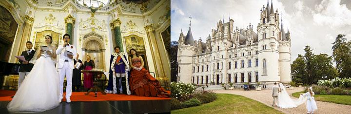Замок и свадьба в дворянских костюмах